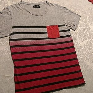 Zara Man  men's  striped T-shirt, size small.